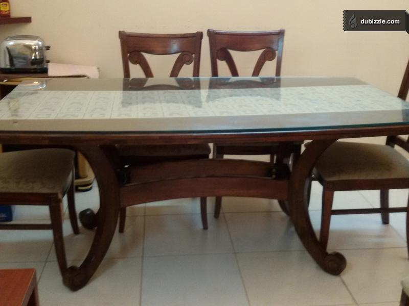 6 seater cherry wood dining table home garden for 10 seater table for sale