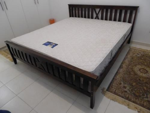 Dubizzle Abu Dhabi Beds Bed Sets Marina Solid Wood King Size Bed W Orthopedic Mattress