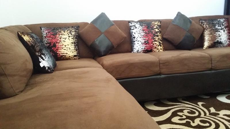 Dubizzle Abu Dhabi Sofas Futons Lounges L Shape Sofa Round Dining Table With 2 Chairs Fr