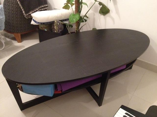 dubizzle abu dhabi tables ikea vejmon coffee table oval black. Black Bedroom Furniture Sets. Home Design Ideas