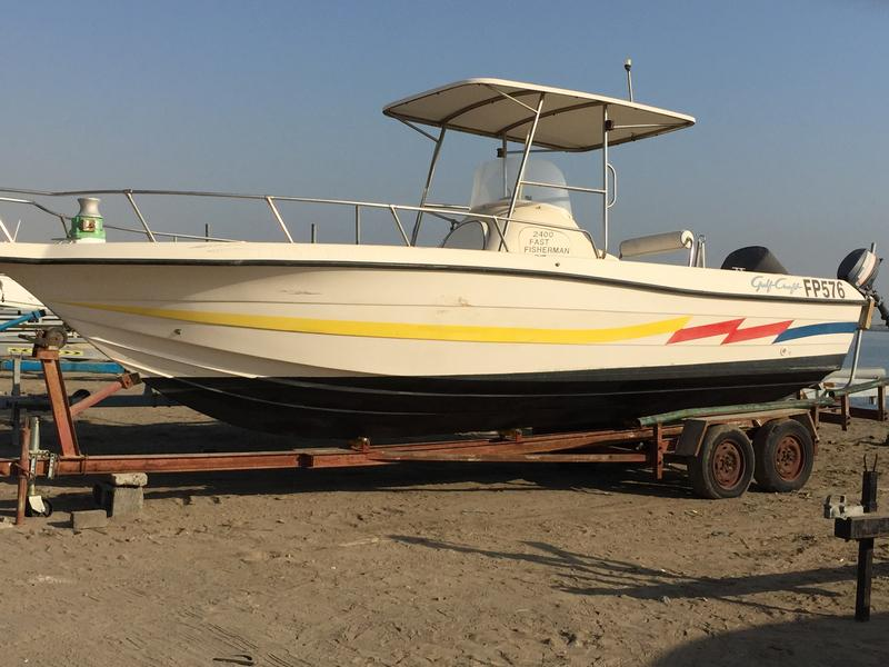 Dubizzle fujairah fishing boat gulf craft boat 24 ft for Gulf craft boats for sale