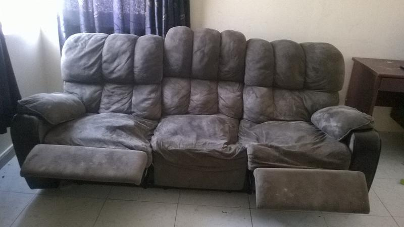 Dubizzle Abu Dhabi Furniture Home Garden 3 Seater Recliner Sofa For Free