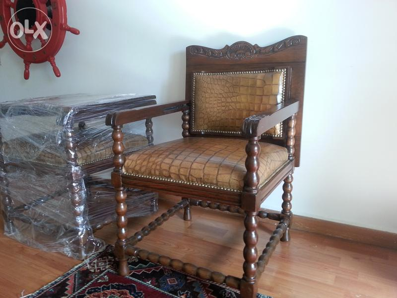 Old Antique Arm Chairs Back Folding To Become A Table Dubizzle Olx Lebanon