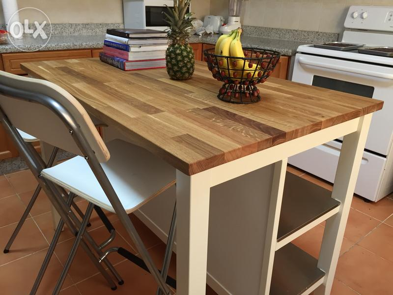 Ikea kitchen island table good shape for sale dubizzle olx qatar - Stenstorp kitchen island for sale ...